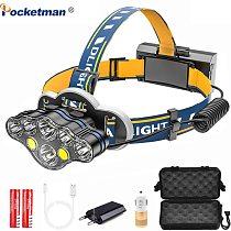Powerful Headlamp USB Rechargeable Head Light 7 LED Headlight Head Lamp Waterproof Head Torch Head Flashlight Lantern