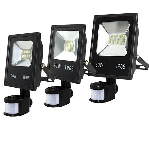 Outdoor Flood light LED 10w20w30w50w 110V 220V LED Floodlight With PIR Motion Sensor Detective Sensor Spot Lamp Garden Lighting