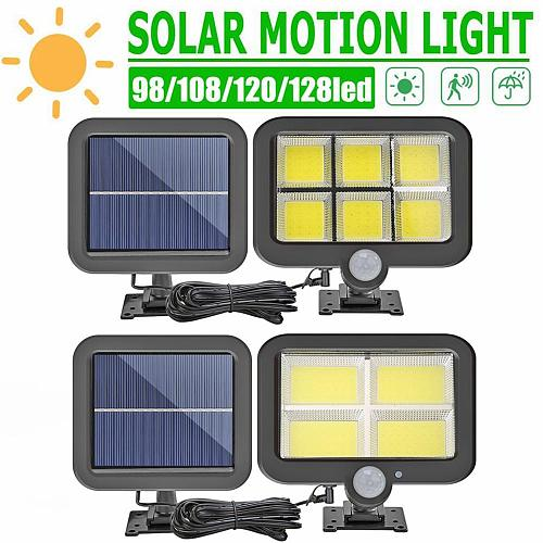 3 Modes 128LED Soalr Light PIR Motion Sensor Wall Light Outdoor Waterproof Spotlight Solar Powered Lamp Street Garden Light