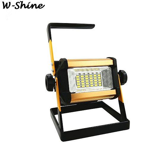 50W LED Flood Light 360 Degree Rotation 24 LED Light Outdoor Waterproof 3 Modes Lighting Spotlight Portable Construction Lamp