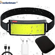 30000LM Brightest COB LED Headlamp Waterproof Headlight USB Rechargeable Head Lamp Built-in Battery Head Light Head Torch