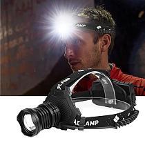 XHP-P90.2 LED Headlamp USB Rechargeable Zoom Fishing Headlight Torch Hunting  Head Light Camping Flashlight