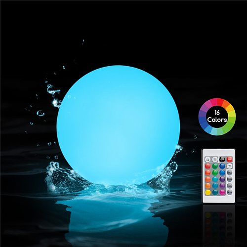 6PC Floating Pool Lights LED Garden Ball Light Outdoor 16 Color Waterproof Pool Lawn Lamp Pool Toys Swimming Wedding Party Decor