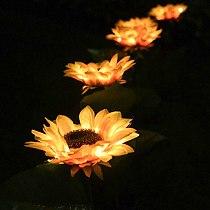 10pcs Sunflower Solar Light LED Lawn Lamp Outdoor Waterproof Flowers Lamp for Courtyard Garden Lawn Lighting Decor Atmosphere