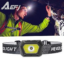 New Rechargeable XP-G2+COB LED Headlamp Body Motion Sensor Headlight Camping Flashlight red white Head Light Torch Lamp