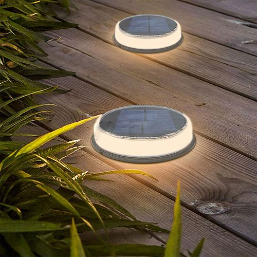 2021 New LED Solar Ground Lights Garden Waterproof Outdoor Solar Disk Lights For Pathway Yard Walkway Patio Lawn Path Floor Led