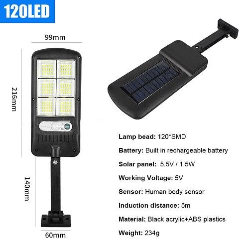 2/4x Solar Street Light 120 LED PIR Motion Sensor solar light IP65 Waterproof Outdoor Lighting Garden Lamp led Wall light