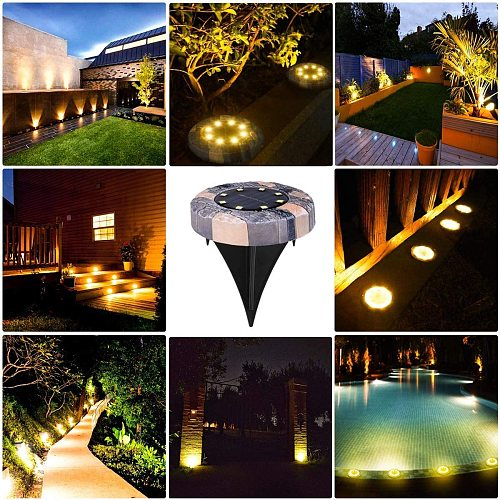 Solar Lawn Lights Garden Decoratio Lights Ground Lamp Outdoor Waterproof Garden Lights Pathway Yard Walkway Patio Lawn Path Lamp