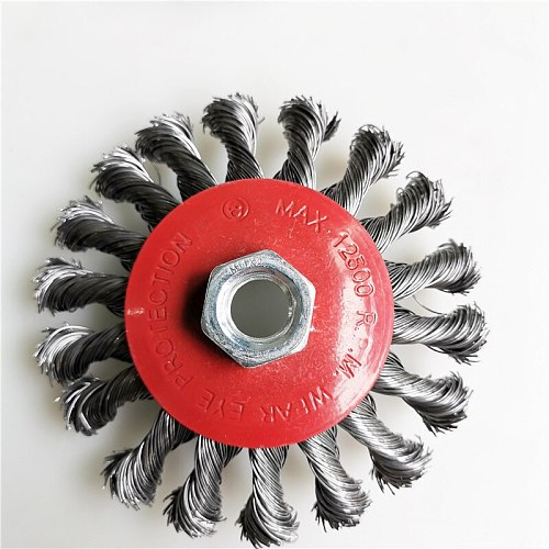 100mm Twist Steel Wire Brush Polishing Brush Wheel for Grinder Rotary Tool Round Brushes Disc Hot Sale