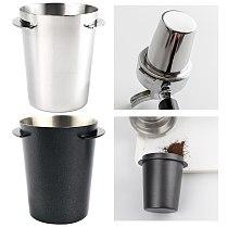 51mm Stainless Steel Dosing Cup Coffee Sniffing Mug Powder Feeder Fit Espresso Machine Portafilter Coffee Tamper Powder