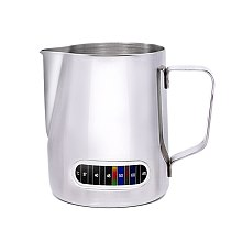 600ML Multi-functional Coffee Milk Frothing Pitcher Stainless Steel Temperature Control Milk Jug for Coffee
