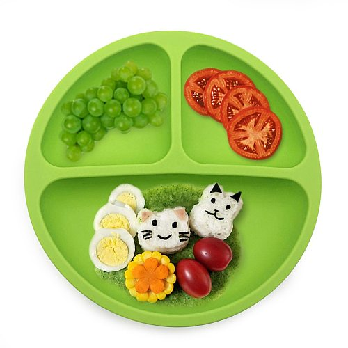 Baby Silicone Dining Plate BPA Free Lovely Smile Face Lunch Tableware Kitchen Fruit Dishes Children Feeding Dinner Plates Bowls