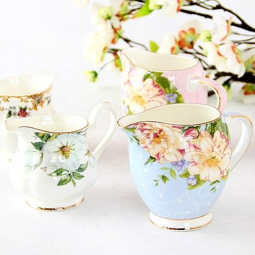 European Style Coffee Set Bone China Milk Pitcher Fasion Household Ceramic Milk Coffee Tea Jug Service Cup