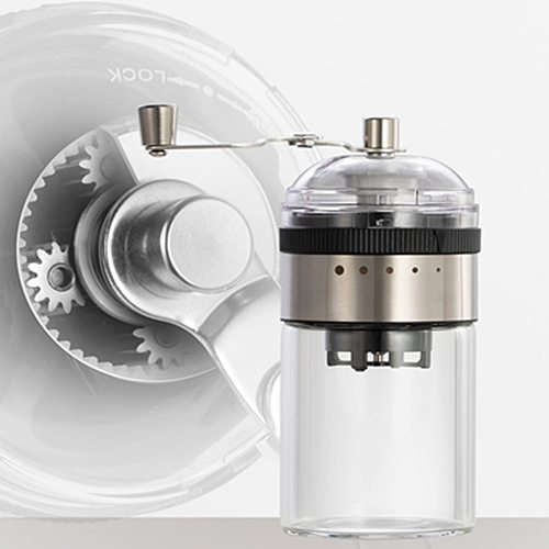 Manual Coffee Grinder Herb Spice Milling The Thickness Of 5 Gears Adjustable Transparent  Portable Coffee Beans Milling Machine