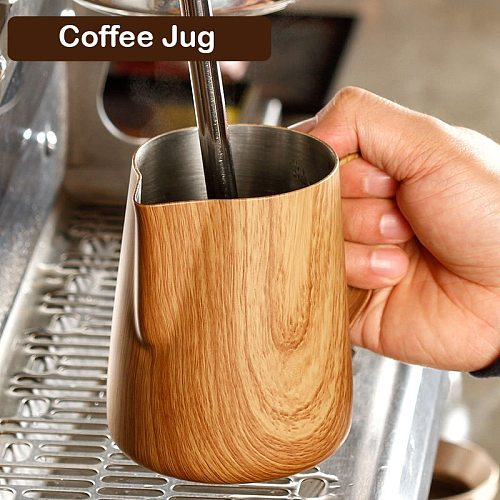 Top Seller Stainless Steel Frothing Pitcher Pull over Cup Espresso Coffee Jug Milk Frothers 300/600ml Mug  Durable Coffee Tools