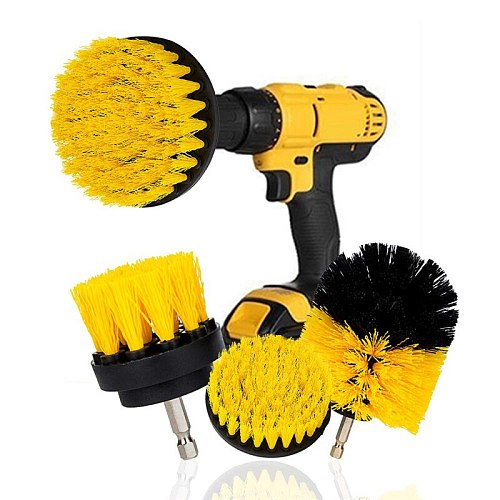 2021 New Electric Scrubber Brush Drill Brush Kit Plastic Round Cleaning Brush For Home Carpet Glass Car Tires Nylon Brushes