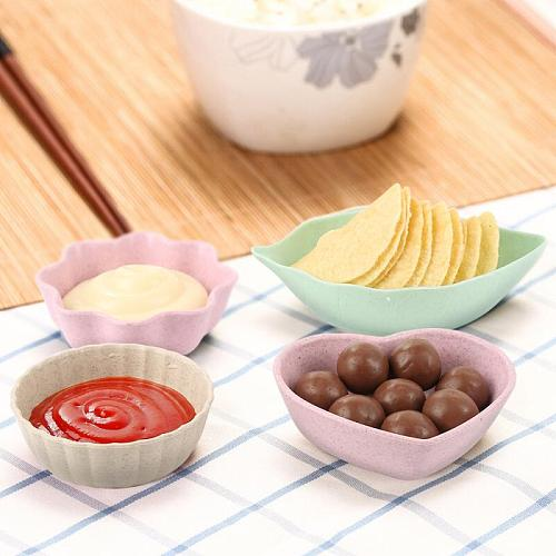 1Creative Multi-function Oil And Salt Snack Small Dish Seasoning Dish Love Situation Leaf-shaped BowlVinegarSauceKitchenSupplies