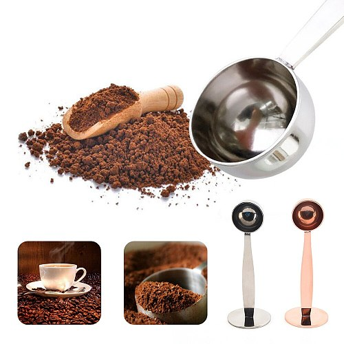 Plastic 2 In 1  Measuring Tamping Scoop Coffee Tamper Dual-Use Espresso Stand Bean Spoon Powder Spoon Coffee Machine Accessories