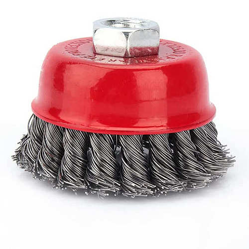 4 Inch Steel Wire Brush Deburring Derusting Angle Grinder Cleaner Accessories Rust Removal Wheel Metal Disc Brush
