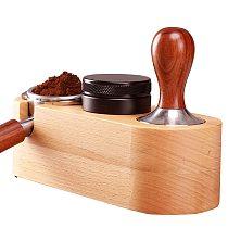 Wood Coffee Filter Tamper 51/58mm Holder Espresso Tampers Mat Stand Maker Support Base Rack Accessories