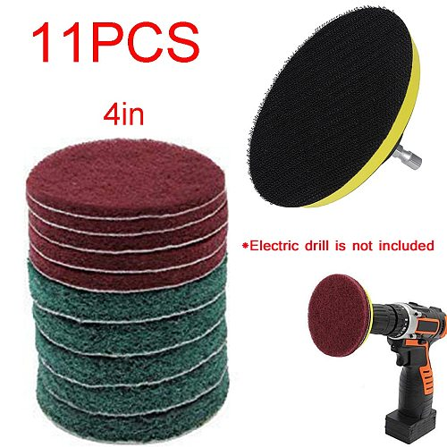 11 Piece Scrub Brush Power Drill Cleaning Brush Cleaner Combo Tool Kit Perfect for Cleaning Grout