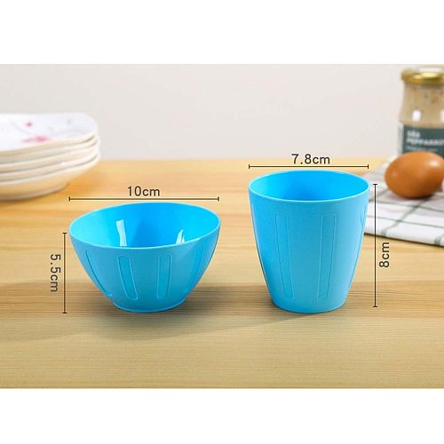 6 Pcs Plastic Bowls Portable Reusable Colorful Seasoning Bowls for Household Kitchen Home Use