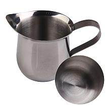 1pcs New Stainless Steel Coffee Shop Small Milk Cream Waist Shape Cup Jug 3 Sizes Home High Quality Small Milk Cup