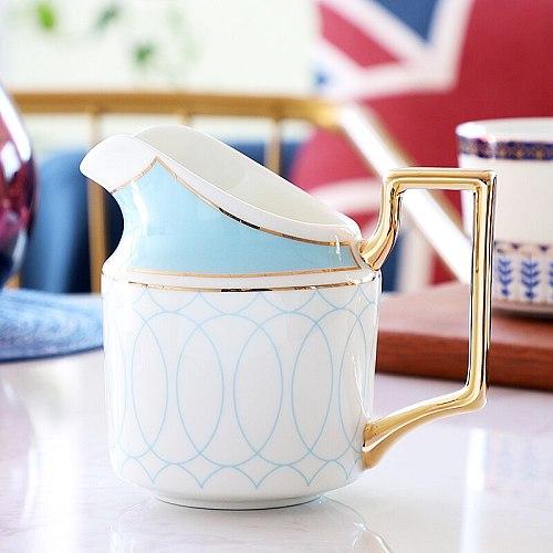 Bone China Creative Milk Jug With Handle Plus Milk Garland Milk Jug Light Luxury Small Milk Cup Coffee Maker Accessories LB522