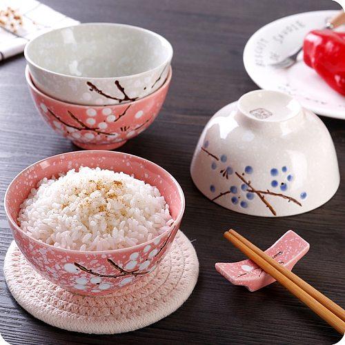1pc Underglaze Japanese Style Ceramic Bowl Creative Home Child Rice Bowl