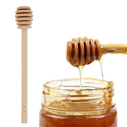 1Pcs 8/16cm Long Handle Wood Honey Stir Bar Practical Honey Mixing Stick Jar Spoon Supplies For Coffee Milk Tea Kitchen Tool Hot