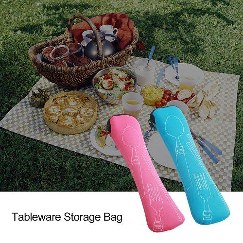 Portable Tableware bag cutlery bag Dinner Set Travel packaging storage box Dinnerware picnic fork spoon bag TXTB1