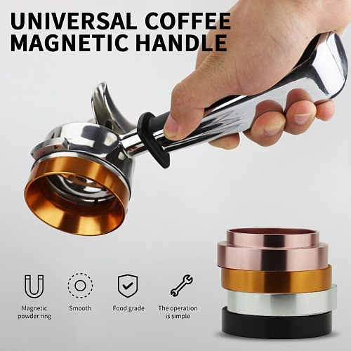 Aluminum Smart Dosing Ring for Beer Mug, Coffee Powder Tool, Espresso Barista for 58MM, Coffee Filter, Tamper
