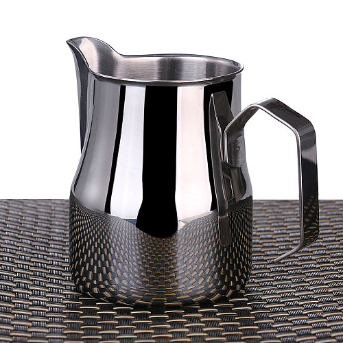Milk Frothing Pitcher, Stainless Steel Professional Milk Jugs With Rounded Spout, 350/550/750ml