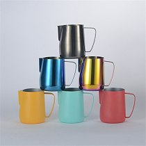 350ml/600ml Stainless Steel Coffee Milk Frothing Jug Pitcher Multicolor Espresso Coffee Pitcher Barista Coffee Tool Caffeeware