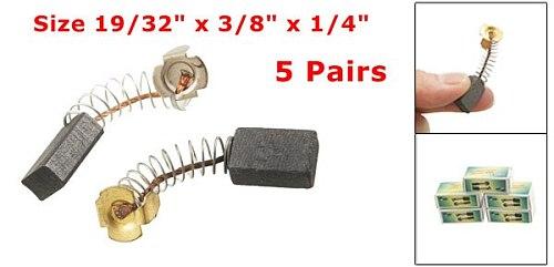 High Quality 10Pcs/5 pair 15x10x6mm / 19/32  x 3/8  x 1/4  Electric Drill Motor Rotary Power Tool Carbon Brush 40mm/1.57  Length