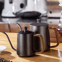 600ML Gooseneck Kettle Stainless Steel Coffee Pot Thin Mouth Kettle Hand Drip Kettle Pour Over Coffee Kettle for Kitchen Office