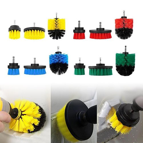 1/3/4Pcs Power Drill Scrubber Brush Clean Brush for Bathroom Surfaces Tub Shower Tile Cordless Power Scrub Home Cleaning Tools