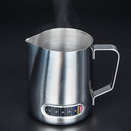 Stainless Steel Milk Frothing Jug Espresso Mug Pitcher Barista Craft Coffee Cappuccino Latte Cups Pot With Temperature Display