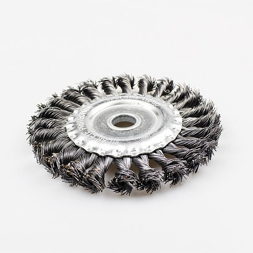 Knotted Bench Steel Wire Brush Deburring Derusting Angle Grinder Cleaner Accessories 125mm Rust Removal Wheel Metal Disc Brush
