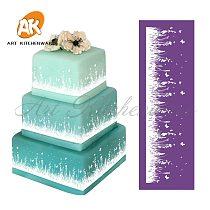 New Grassland Mesh Stencil Lace Cake Stencil DIY Cake Decorating Tools Fabric Cake Stencils for Cake Mold Fondant Molds MST-08