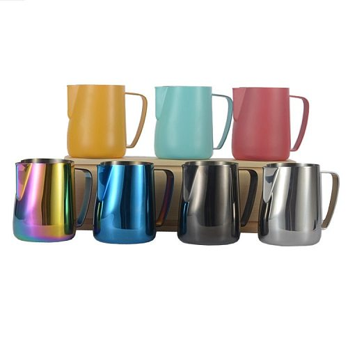 350ml Milk Frothing jug Espresso Coffee Pitcher Barista Craft  Latte Milk Frothing Jug Stainless Steel Colorful Mug Frothing Jug