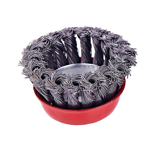 Hot 75mm Steel Wire Knot Flat Wire Wheel Rotary Knot Flat Cup Wire Wheel Brush For Angle Grinder Rust Removal Cup Brush Set Kit