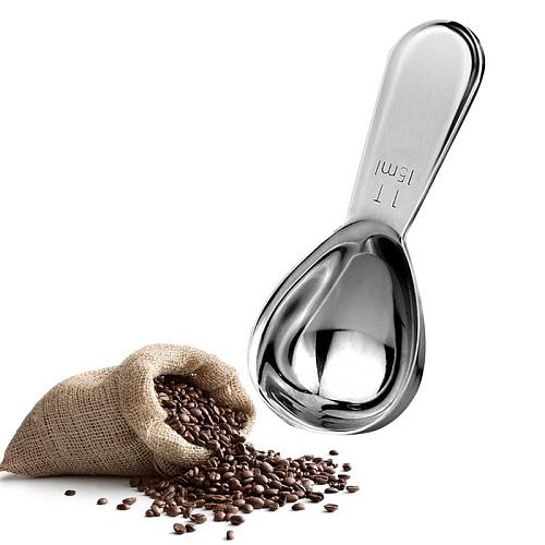 1/2pcs Creative Measuring Spoon Stainless Steel Measuring Cup Coffee Scoop Measuring Tool With Scale Coffee Tools