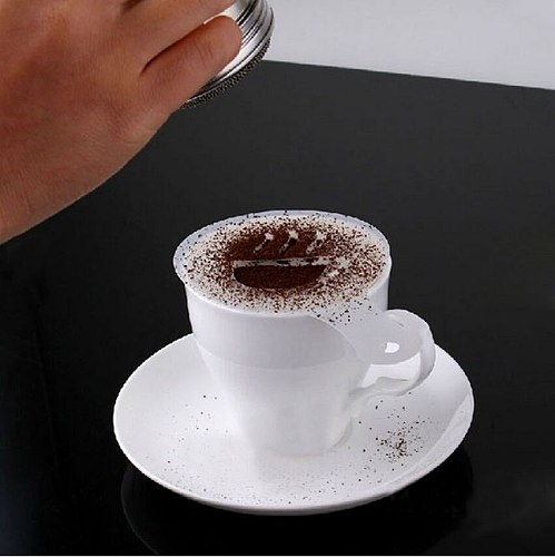 16pcs/set High Quality Plastic Coffee Stencils Latte Caramel Fancy Coffee Printing Mold Coffee Milk Froth Spray Mould Coffeeware