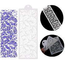Lace feather for Wedding Cake Design Plastic Template Mold Stencil Painting Stencil Bottle Fondant Decorating Tool