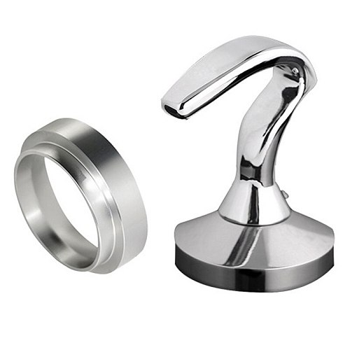 3PCS/Set 51MM Filter Basket Cup Coffee Tamper Dosing Ring Set Stainless Steel Coffeeware for Birthday Gift