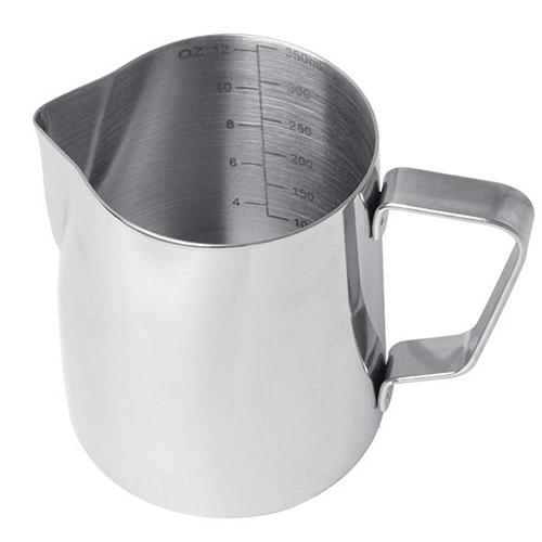 350/580ml Stainless Steel Milk Frothing Jug Espresso Coffee Steaming Pitcher