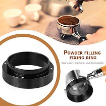 Anti-drop Dosing Funnel Ring for Coffee Tamper Brewing Bowl Aluminum 51MM 53MM 58MM Coffee Powder Accessories Replacement Ring