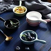 Glazed Ceramic Seasoning bowl Vinegar Seasoning Solid Soybean Dish Household  Combination Sauce Salt Bowl Seasoning Plate