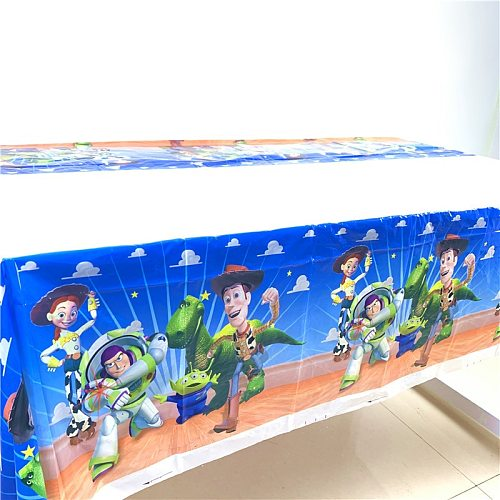 1PCS 1.8*1.08M New Toy Story 4 Birthday Party Supplies Woody TableCloth Disposal Table Cloth Kids Boys children Party Decoration